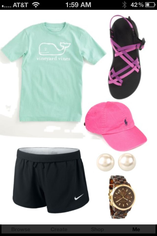 d3e1f4c94d81 My summer outfit in a nutshell. Vineyard Vines t-shirt
