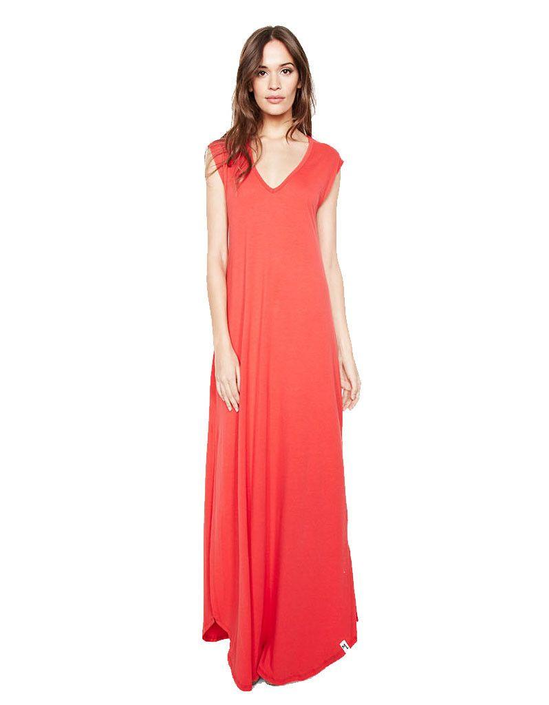 Michael lauren henderson maxi dress in gypsy red maxi dresses