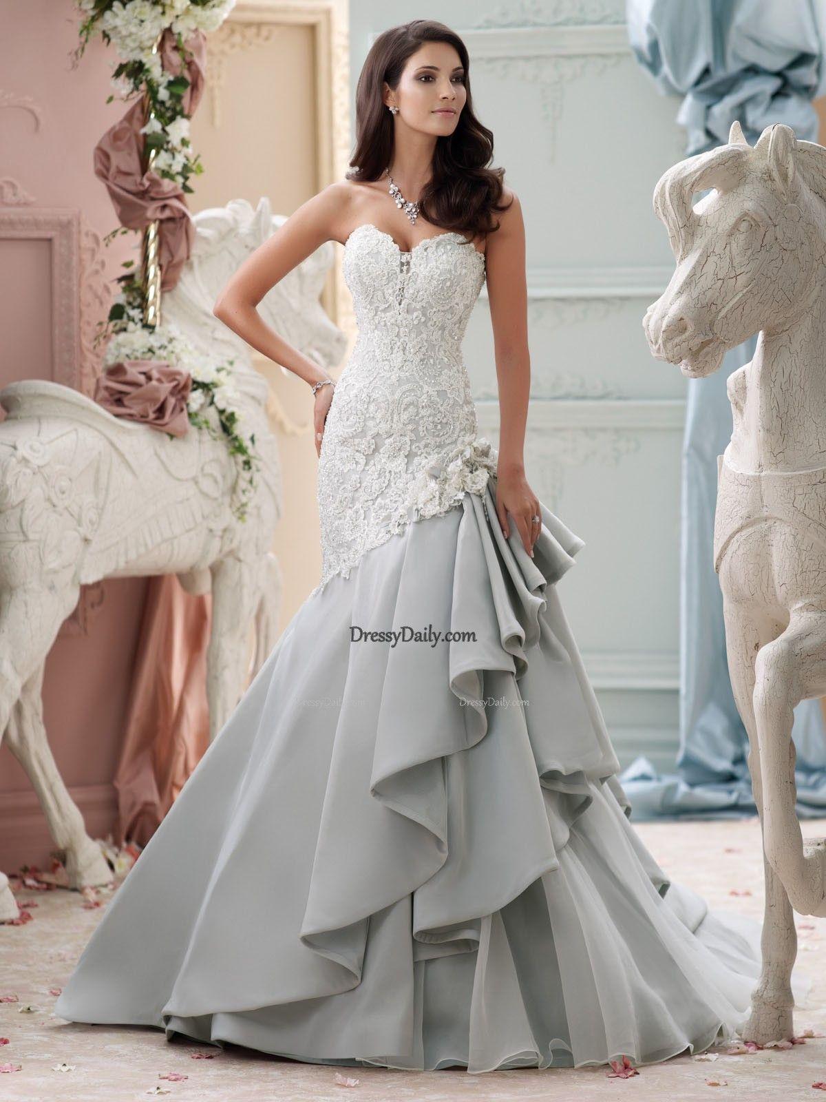 Grey mermaid wedding dress  wedding dress wedding dresses  Wedding Dressub  Pinterest  Wedding
