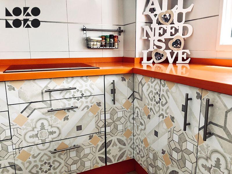 Vinilos Adhesivos Lavables Para Muebles De Cocina Disenos