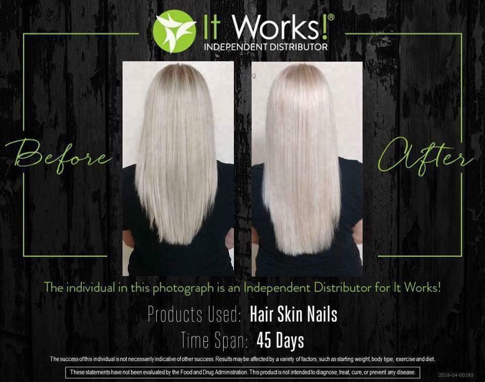 Awesome results using It works Hair Skin & Nails Longer healthier ...