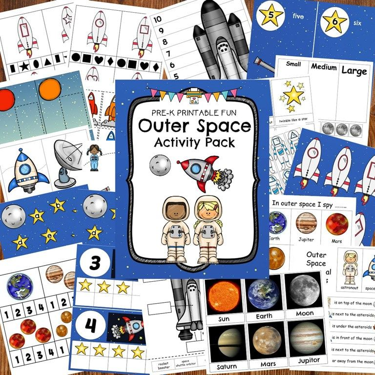 Outer Space Activity Pack In 2020 Space Activities Outer Space Activities Preschool Activities