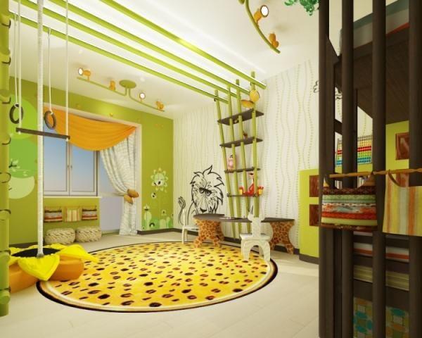 dschungel kinderzimmer regal schaukel - Luxus Hausrenovierung Fantastische Autobett Ideen Der Modernen Kinderzimmer Design