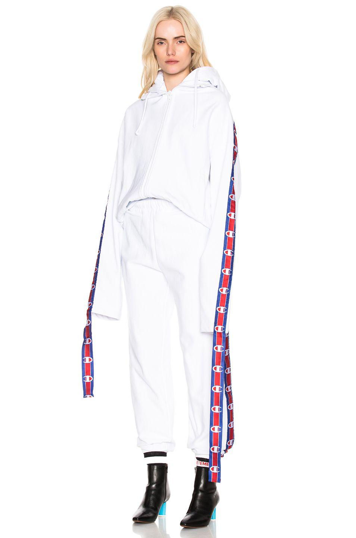 a3799c1e80 VETEMENTS X Champion Tape Zip Up Hoodie.  vetements  cloth ...