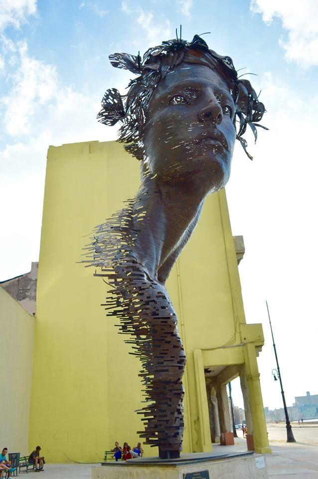 Image result for This monumental metal sculpture in Havana, Cuba is by Rafael San Juan