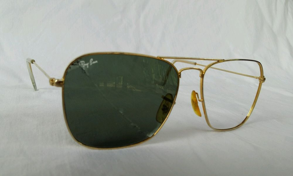 88510a7800 Vintage Authentic B L Ray Ban Caravan USA Sunglasses Frame 59  14 marked   RayBan  Caravan