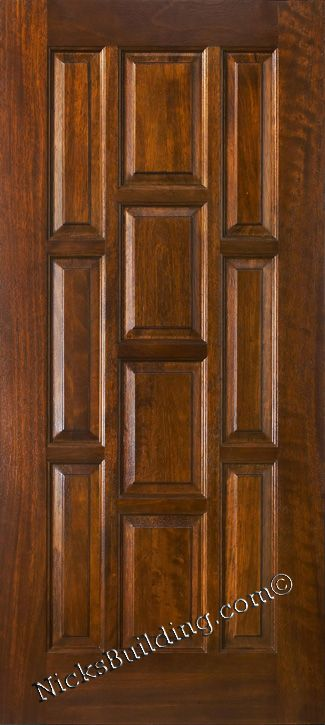 All Wood Solid Door N 10 Panel Exterior Door Wood Exterior Door Mahogany Wood Doors Mahogany Entry Doors