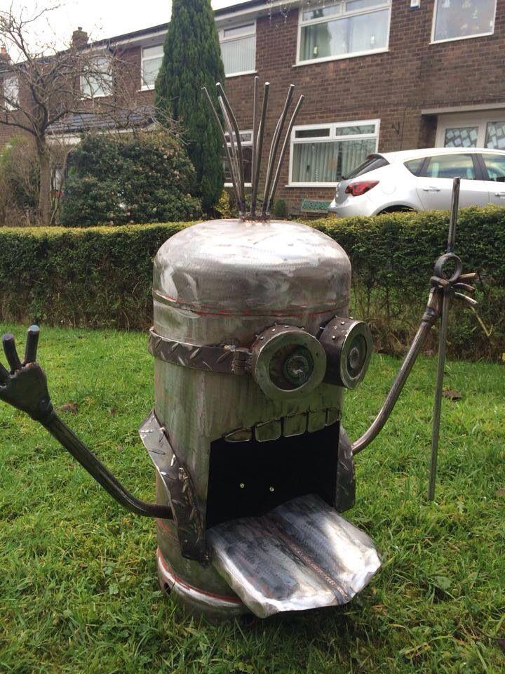 Minion Wood Burner Gas Bottle Recycling Welding Metal