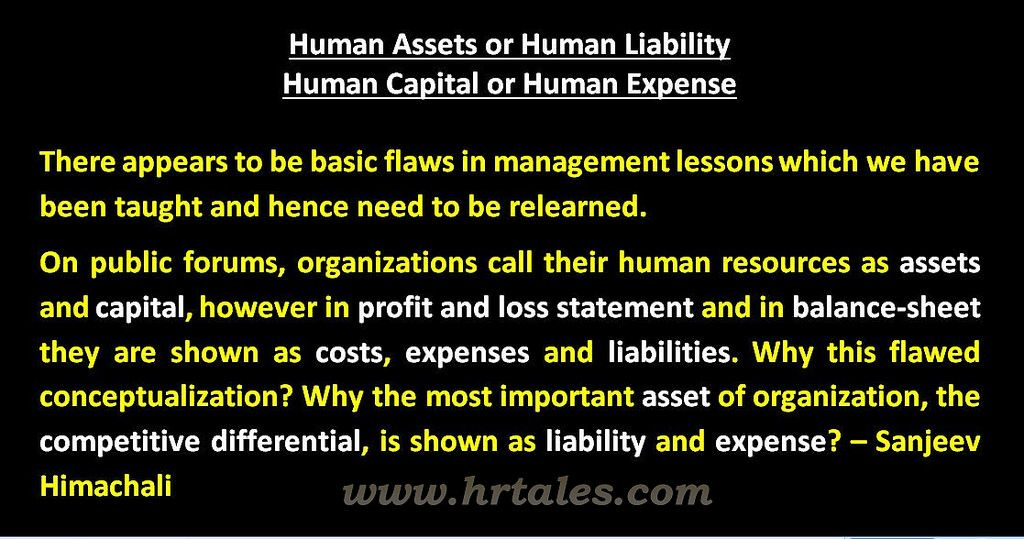 Human Assets or Human Liability Balance sheet, Flaws and Management - basic balance sheet example