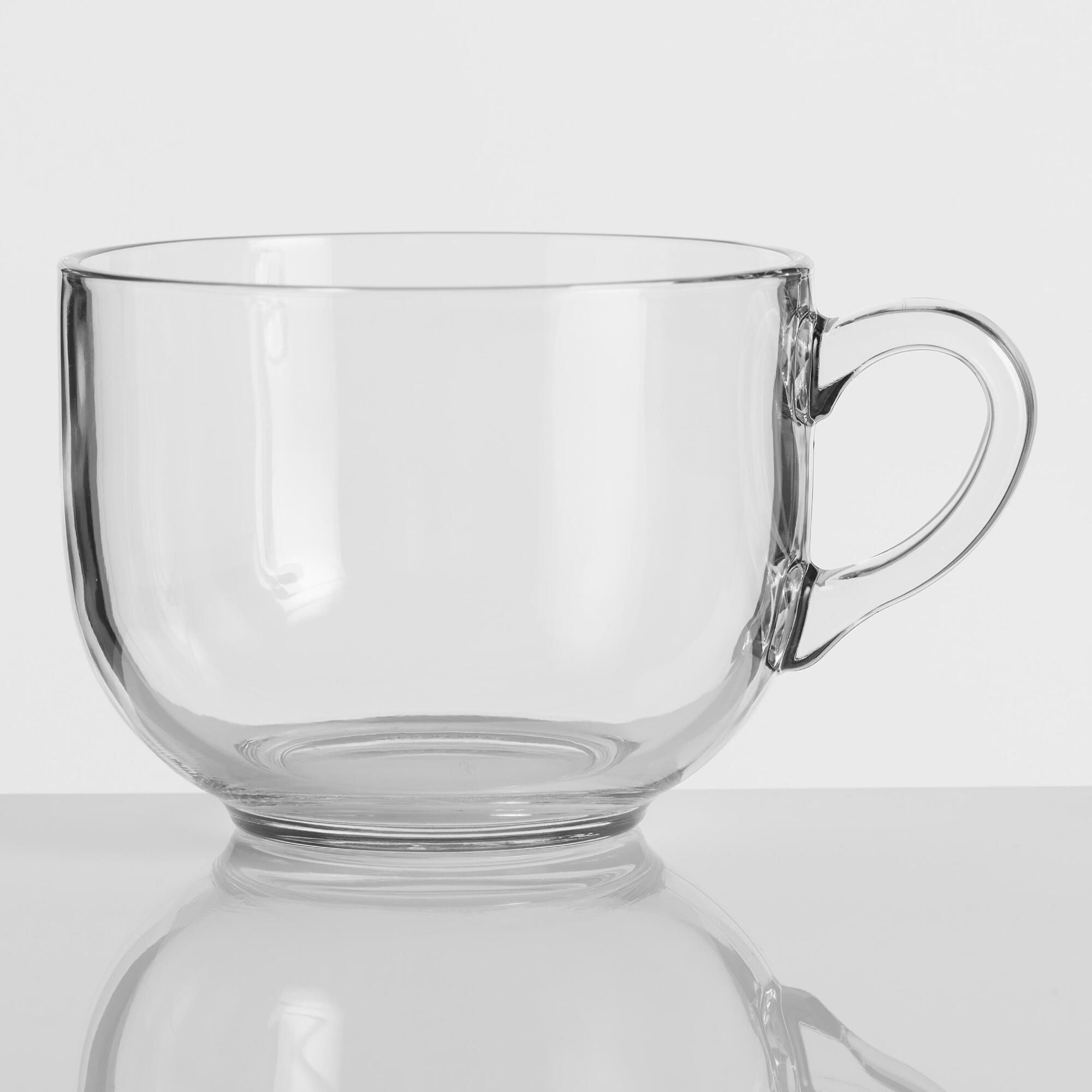 2655cc7e2e9 Oversized Glass Mug by World Market in 2019 | Products | Clear ...
