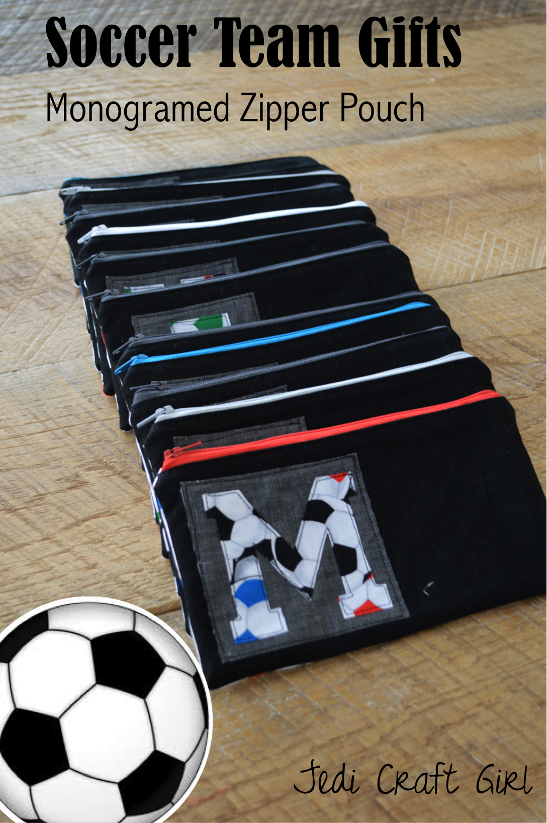 Soccer Zipper Pouch Tutorial With Images Soccer Team Gifts Soccer Coach Gifts Soccer Gifts