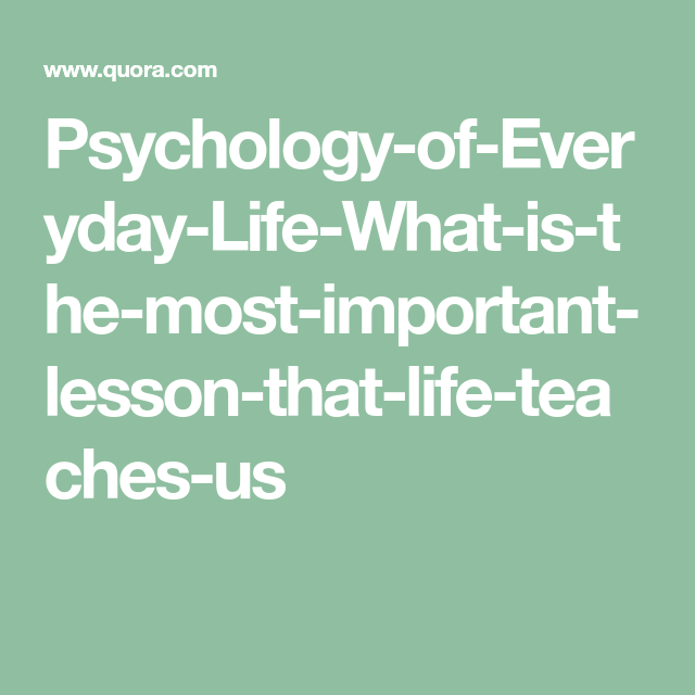 why is psychology important in everyday life