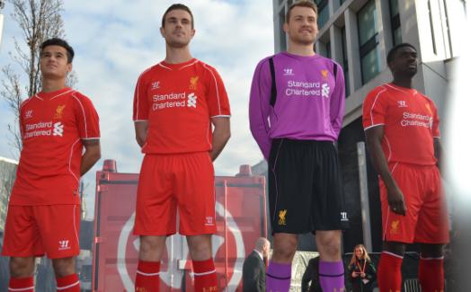 LFC reveal new 2014/15 home kit Liverpool kit, Liverpool