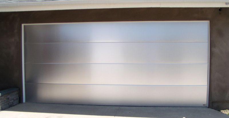 Impressive Modern Metal Garage Door With Custom Garage Doors