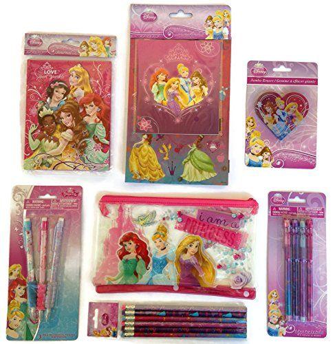 Disney Princess 8 Pack Erasers Disney Princess Shaped Erasers!