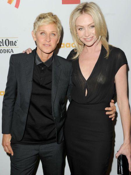 Ellen DeGeneres Wife Portia de Rossi GLAAD Wardrobe ...