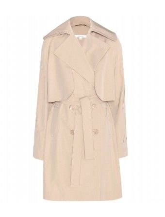 Carven - Trench coat -  The classic style is revised with softened storm flaps and a rounded collar, plus a a buckle-free waistbelt that will sculpt a sinuous silhouette when tied - @ www.mytheresa.com