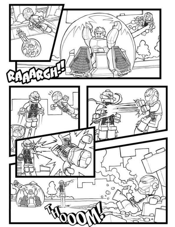 Coloring page Lego Marvel Avengers Age of Ultron 2 on Kids