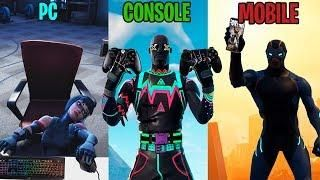 pc vs console vs mobile in fortnite battle royale - ps4 vs pc fortnite