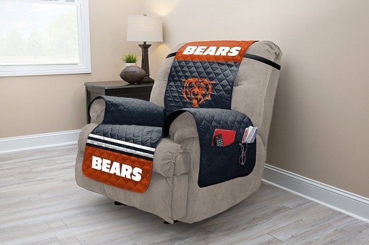 Amazing Nfl Chicago Bears Recliner Protector With Side Pockets Ocoug Best Dining Table And Chair Ideas Images Ocougorg