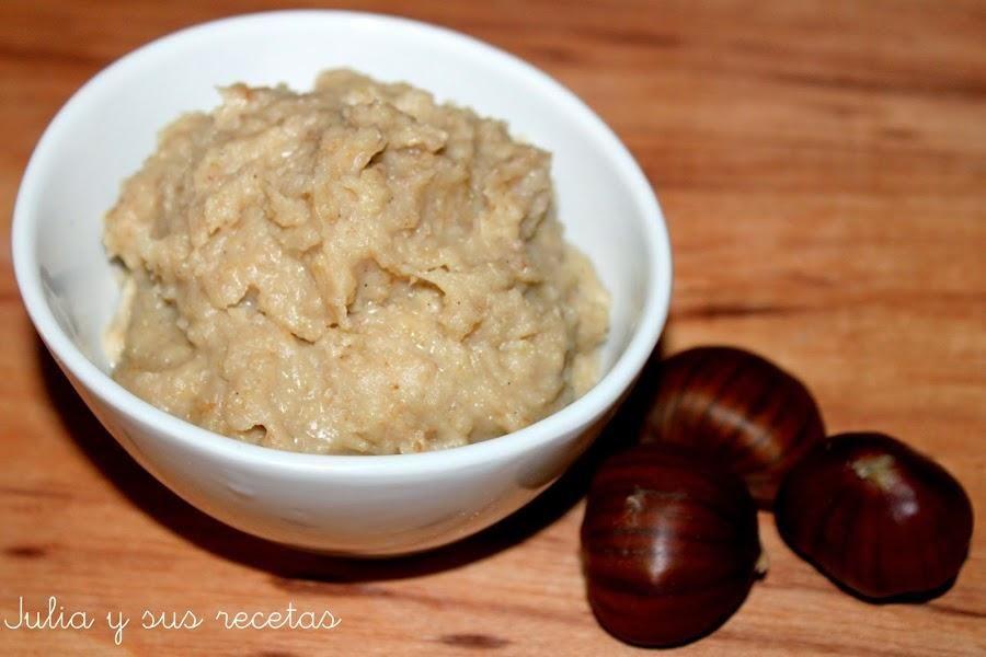 Crema dulce de castañas (para rellenar pasteles)