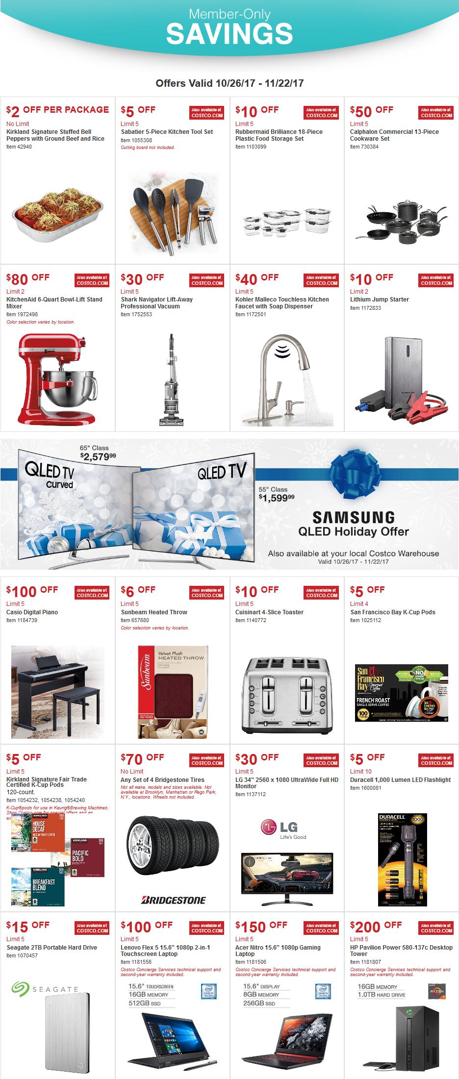 Costco Wholesale Weekly Ad Nov 22 26 2017