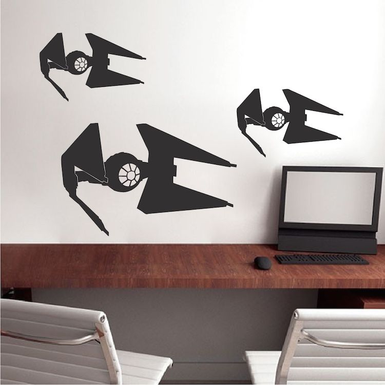 Fighter Ship Wall Decal Sticker in 2018 | Star Wars ...