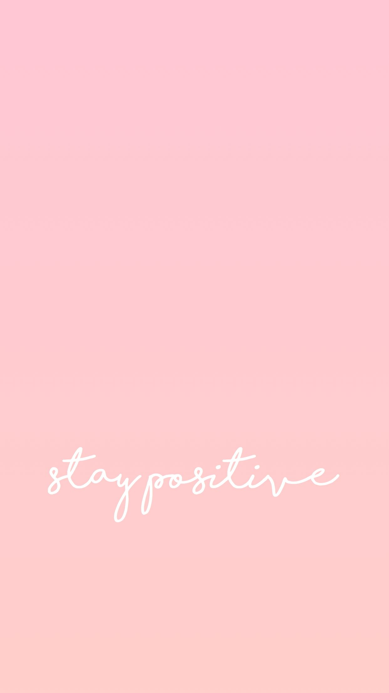 iPhone wallpaper stay positive // iphonewallpaper