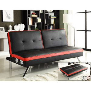 Kathy Ireland Beethoven Studio Convertible Futon With Built In