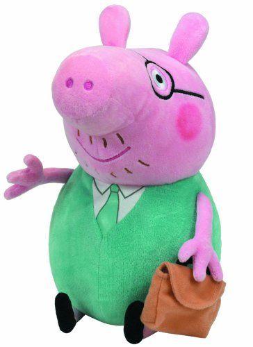 9e7574ce5f6 Ty Beanie Baby Peppa Pig - Daddy Ty Beanie Buddy Large Plush Toy