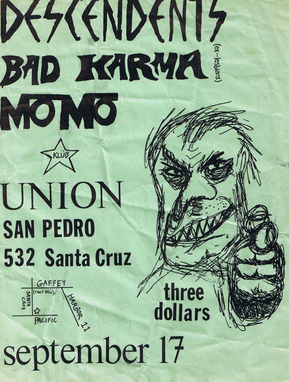 Old Punk Flyers Photo San pedro, Rock posters, Karma