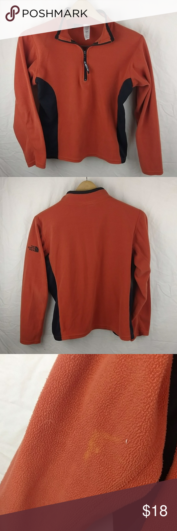 the north face pull over jacket the north face orange and. Black Bedroom Furniture Sets. Home Design Ideas