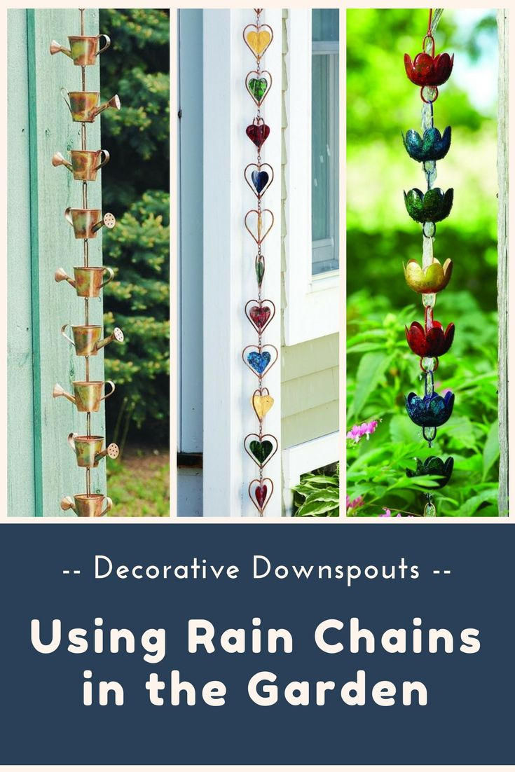 Decorative Downspouts: Using Rain Chains in the Garden | Rain chains ...