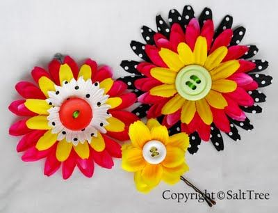 Diy flower clip would be adorable for little girls this reminds diy flower hair clips using layers from different colored flowers mightylinksfo