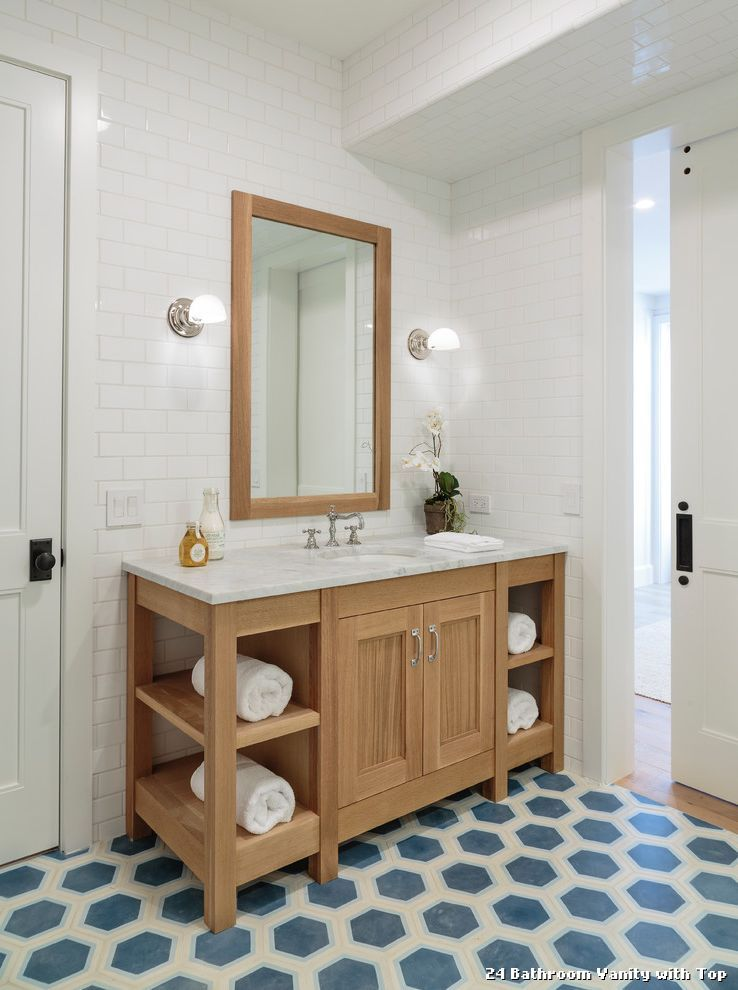 24 Bathroom Vanity With Top With Beach Style Bathroom