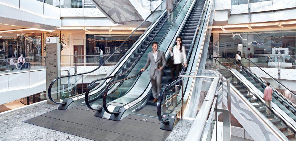 Johnson Escalators For Heavy Traffic Escalator Manufacturing Mall
