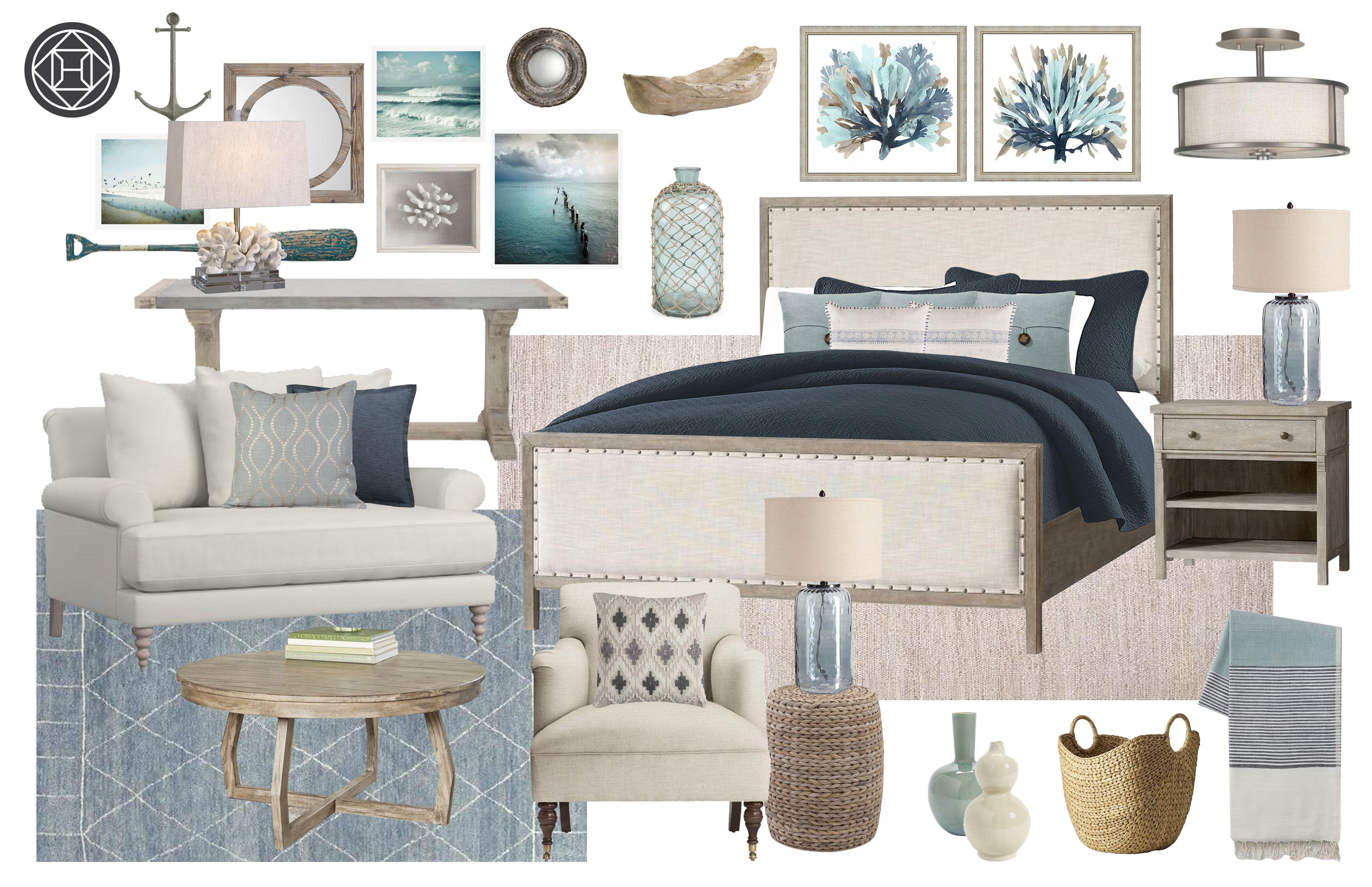 Classic Coastal Farmhouse Bedroom Design By Havenly Interior Designer Lacey Interior Design Farmhouse Bedroom Bedroom Design