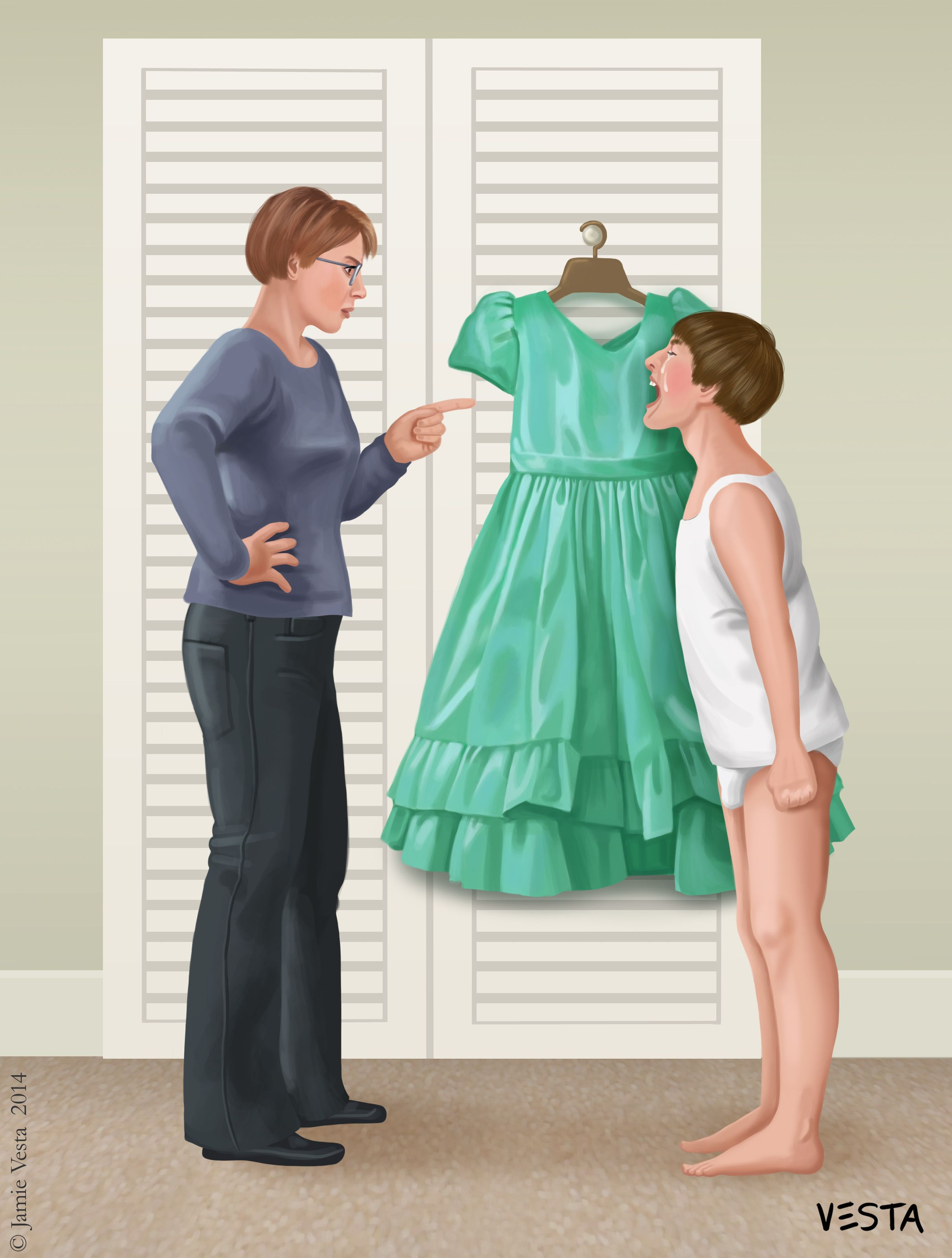 unhappy tommy boy please mummy i don t want to wear a dress