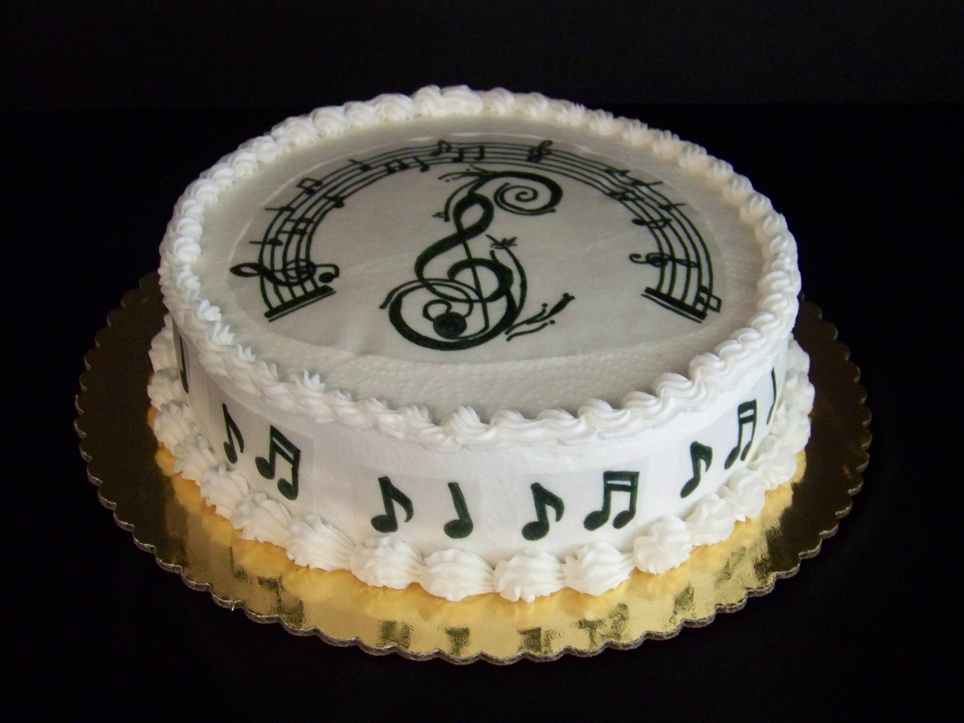 Awesome Music Notes Cake Decorations Tiendauh Com Birthday Cake Funny Birthday Cards Online Alyptdamsfinfo