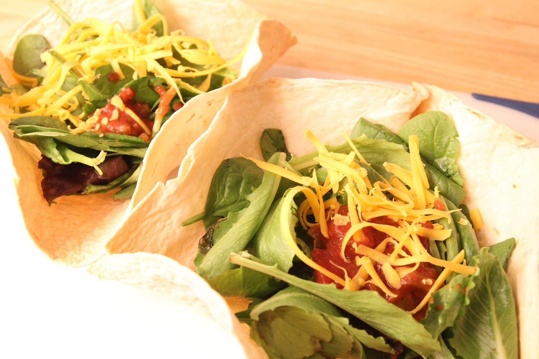 how to make taco salad shell bowls