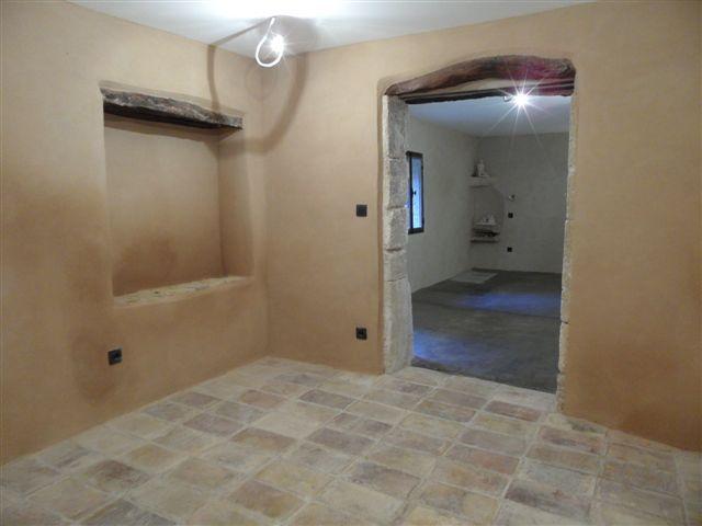 salle de bain tomette et enduit chaux salle de bain Pinterest - enduit salle de bain