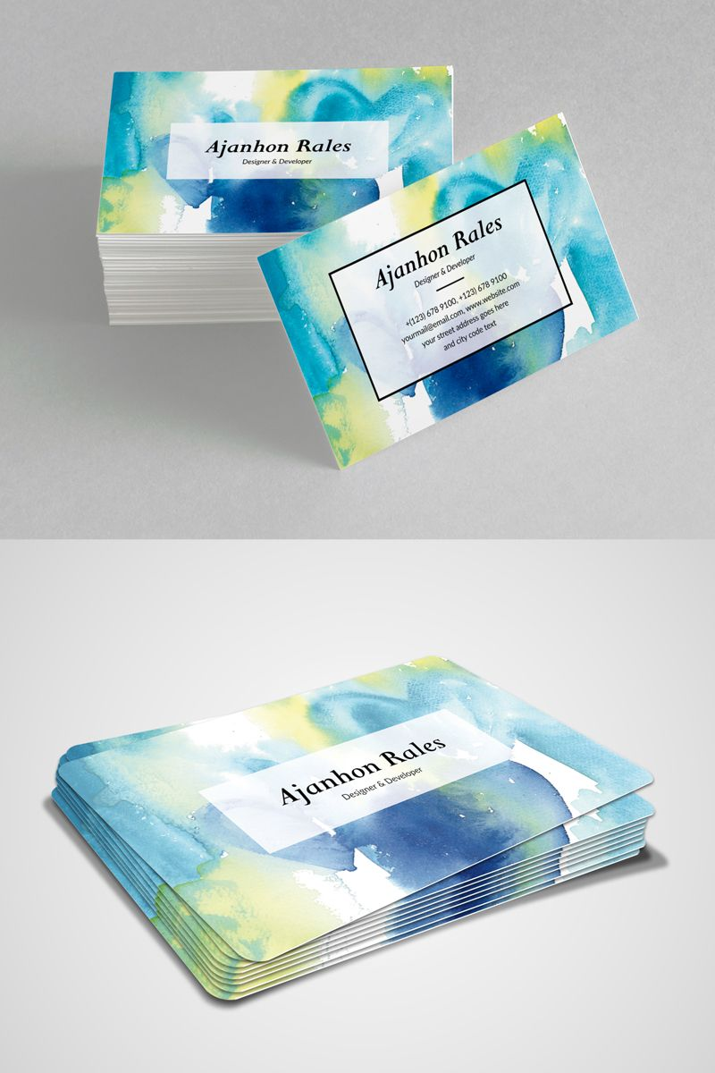 Ajanhon Rales Designer Developer Business Card Corporate Identity