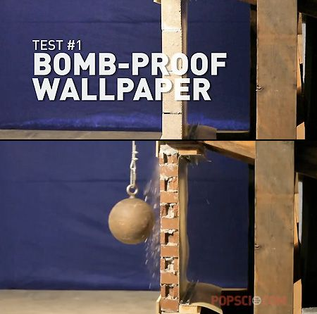 Bombproof X-Flex Wallpaper Withstands Wrecking Ball Hits - TechEBlog
