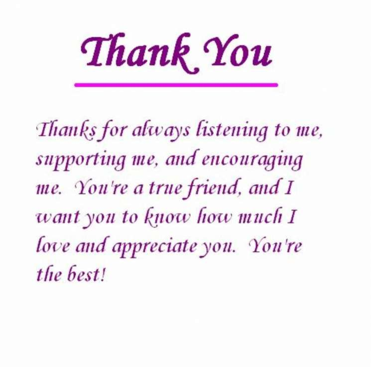 thank you to best friend quotes friendship quote