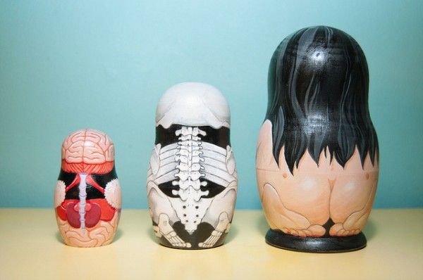 Anatomical Nesting Dolls - perfect gift for you favorite chiropractor, doctor, physical therapist, ...