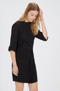 POPPER FRONT SHIRT DRESS