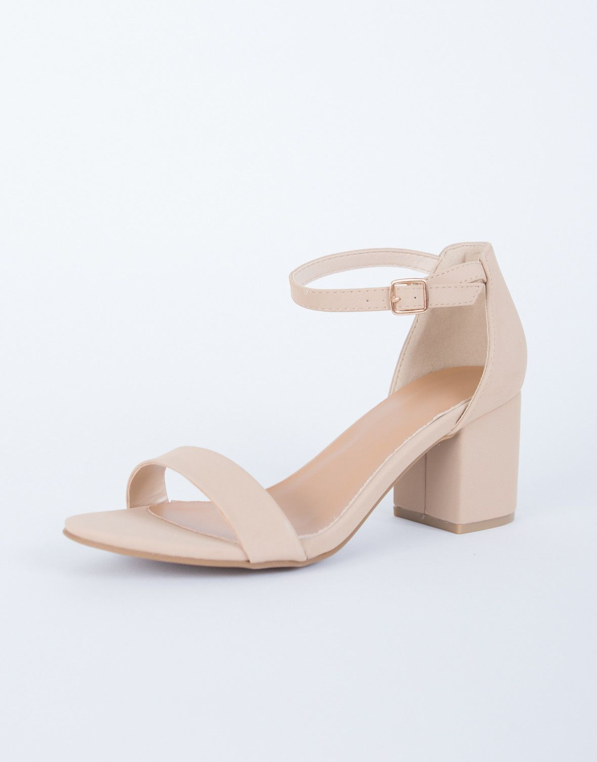 Ankle Strapped Block Heel Sandals | Schuhe