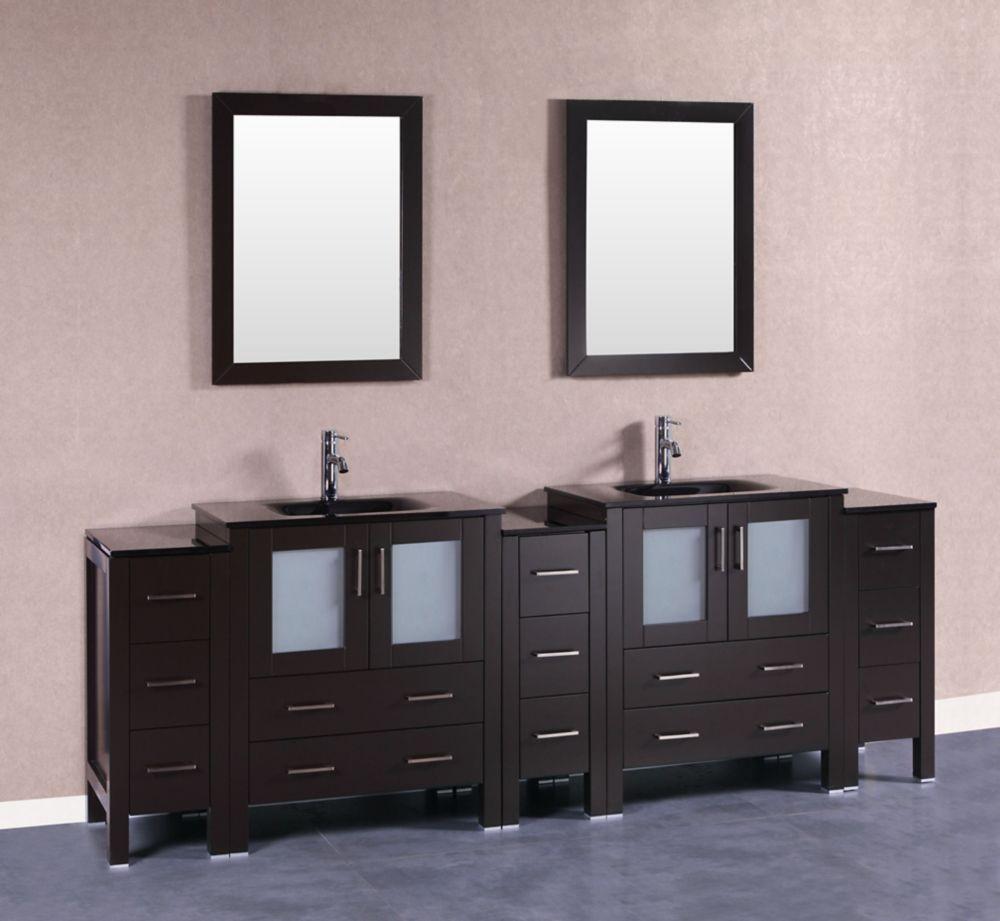 96 Inch Bathroom Vanity Home Depot: 96 Inch AB230BGU3S Double Vanity