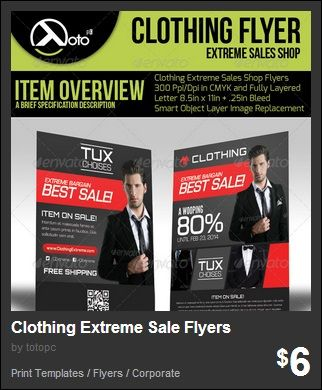 flyers for clothing store