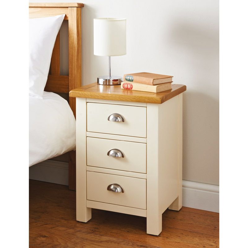 Newsham 3 Drawer Bedside Table The Newsham 3 Drawer Bedside